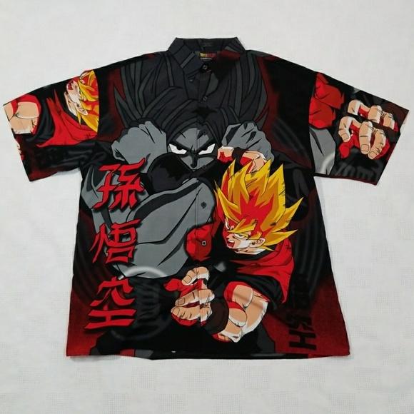7d75caba5 Dragonball Z Other - Dragonball Z Goku Super Saiyan Button Up Shirt- XL